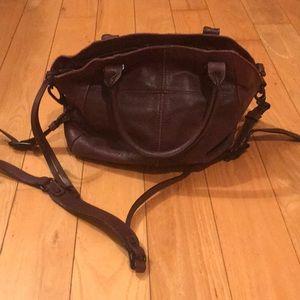 Elliott Lucca maroon cranberry bag